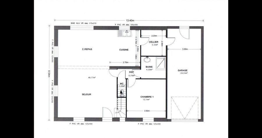 Plan de maison Plans de maisons rectangulaires - Eure Et Loir (28