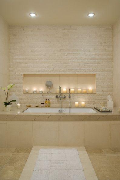 Idée décoration Salle de bain Salle de bains en camaïeu beige. La ...