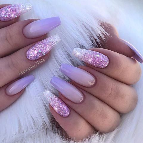 52 best nail art design with ombre color nail design