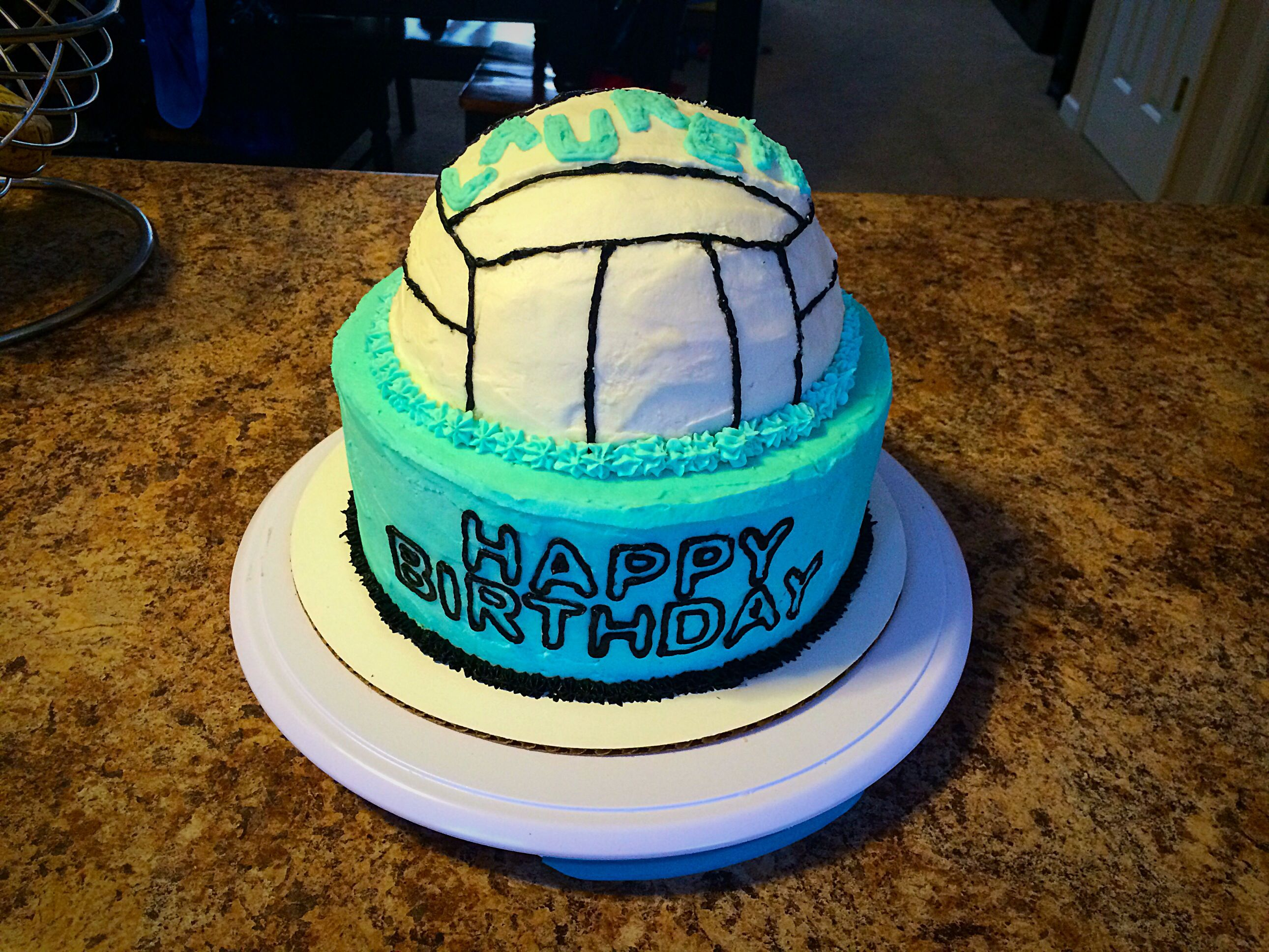 Volleyball Cake Volleybal