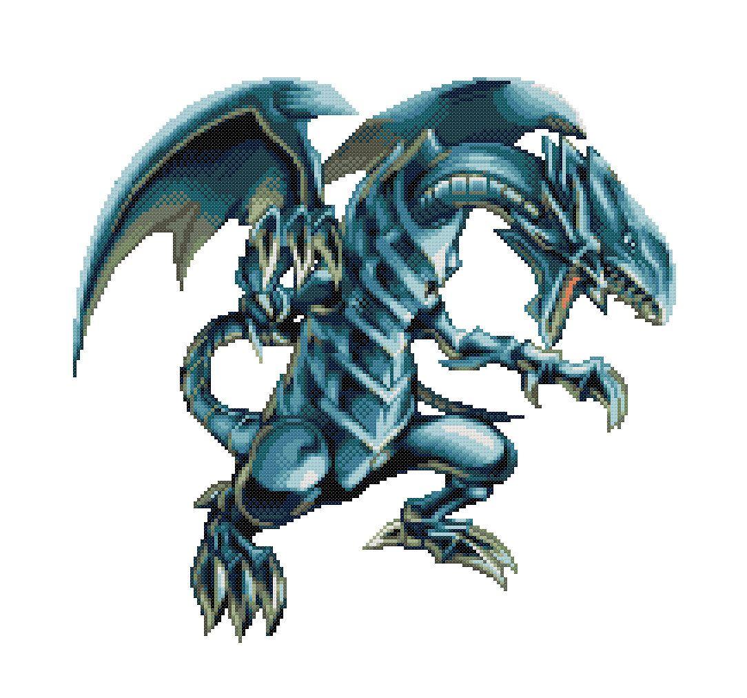 Blue Eyes White Dragon Cross Stitch Pattern Yu-Gi-Oh by ... - photo#27