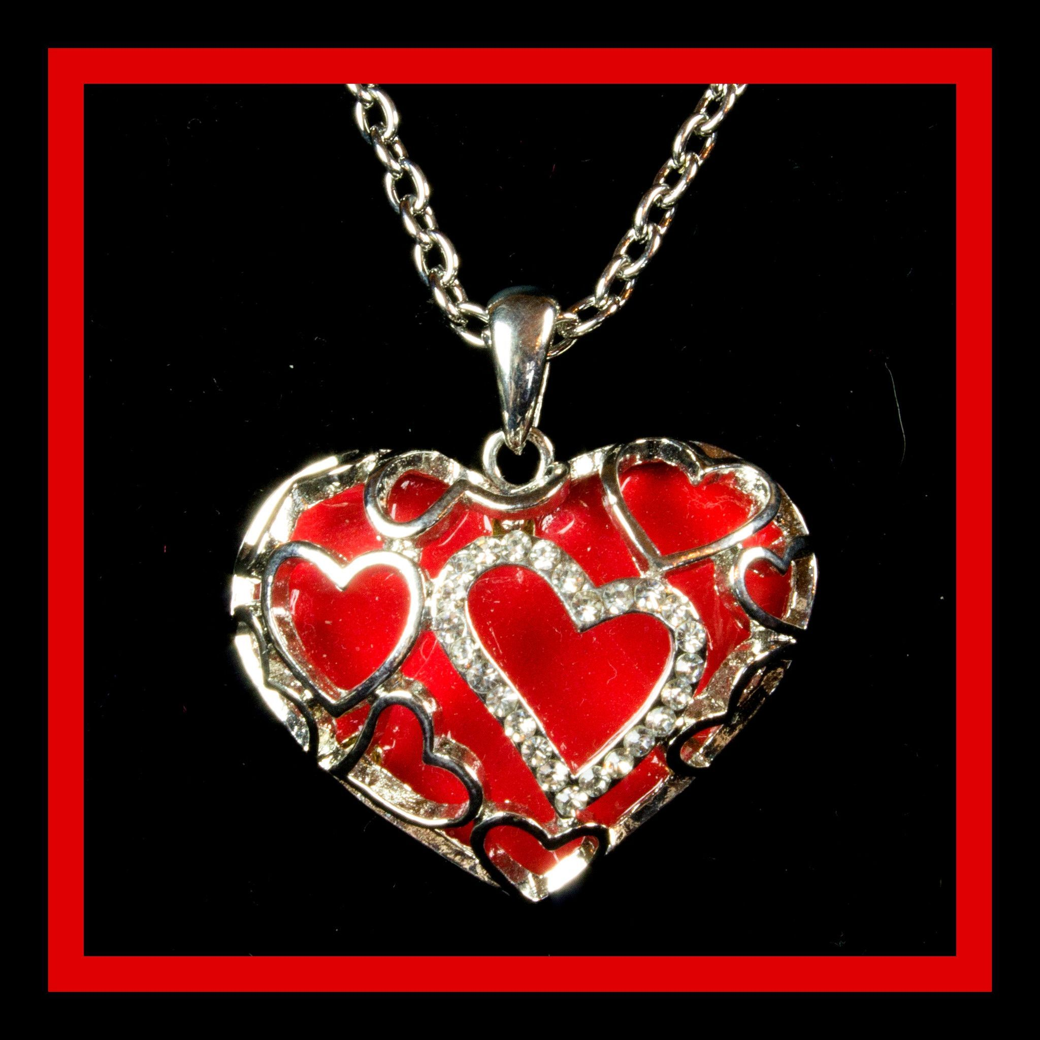 shipping heart overstock vine necklace floral teardrop handmade adorned thailand red orders jewelry over product watches stone on free silver