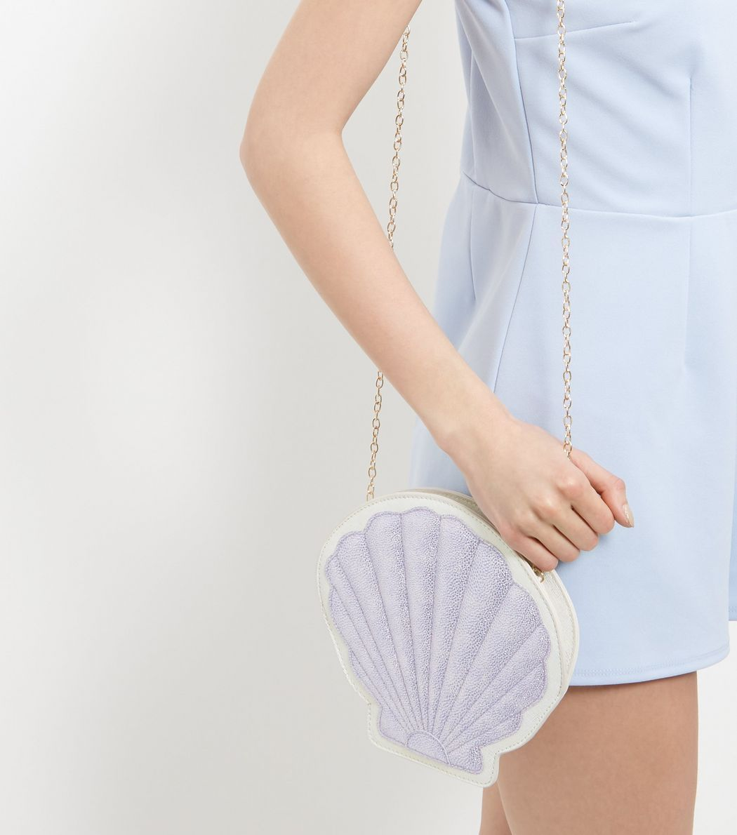 Silver Shell Clutch  | New Look £12.99