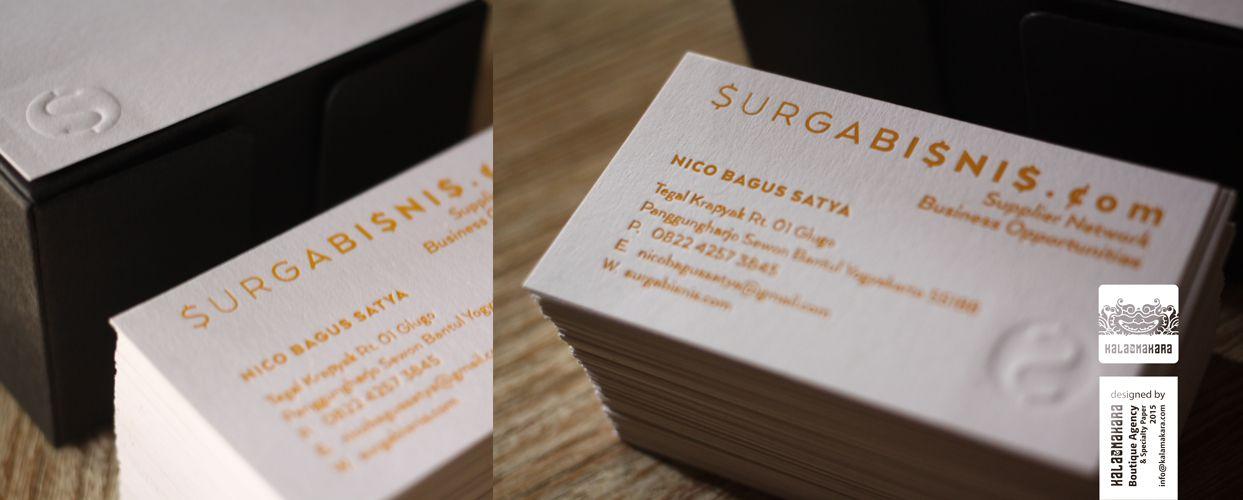 Surga Bisnis Dot Com business card/ Box: ArjoWiggins Keaykolour ...