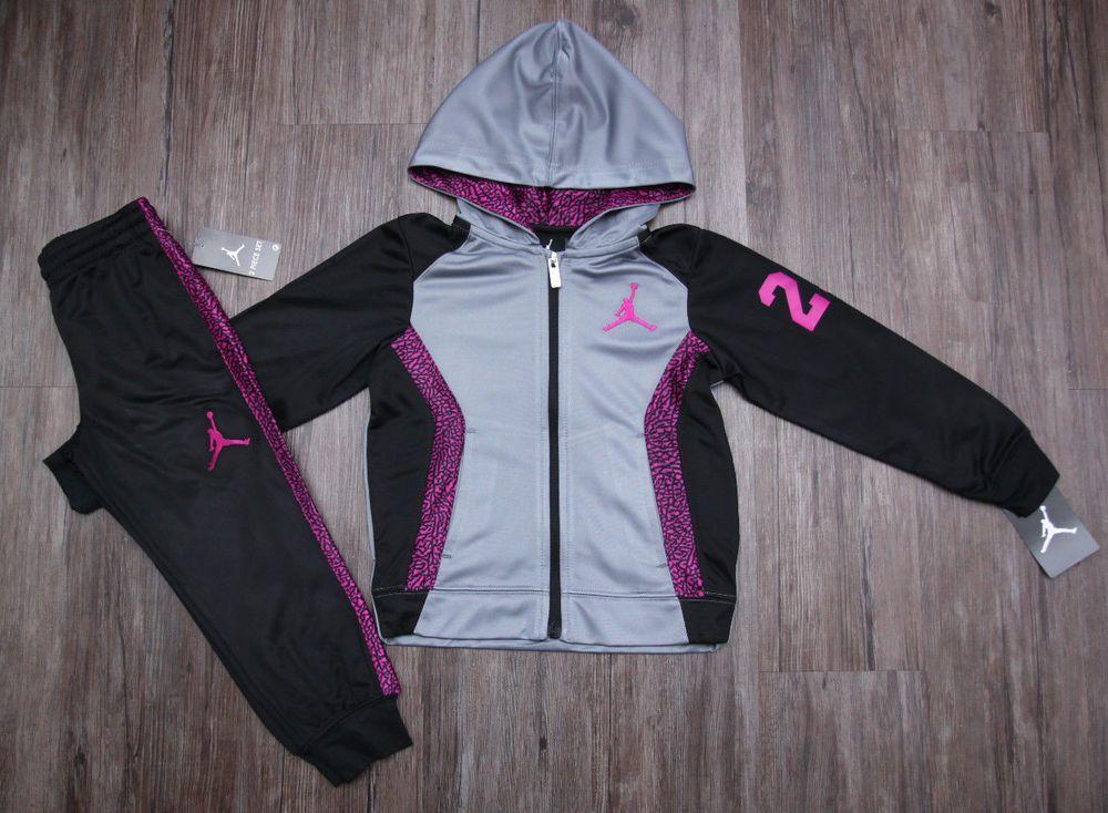 Air Jordan Girl Hooded Jogging Set
