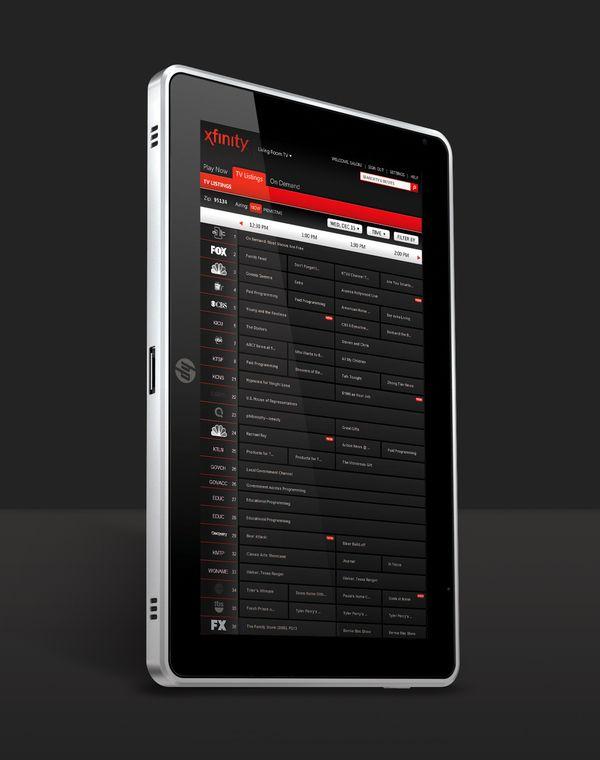 Comcast / Xfinity App Interface by Natali Arocha, via