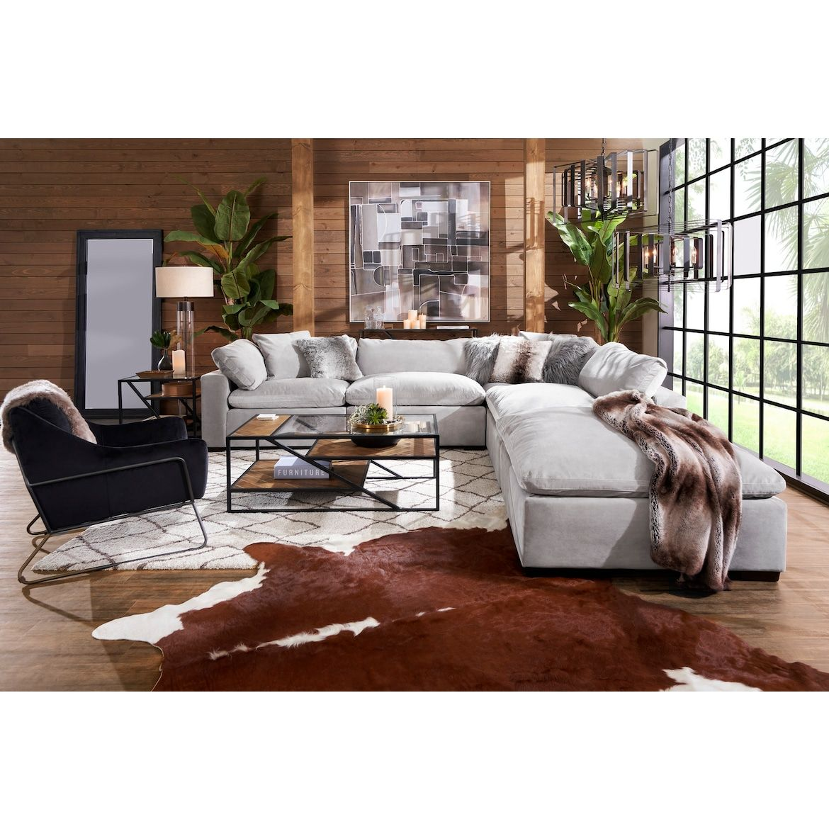 Plush Ottoman The Big Comfy Couch Cozy Furniture Deep