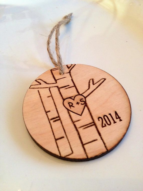 Personalized Christmas ornament, engraved Christmas ornament, tree
