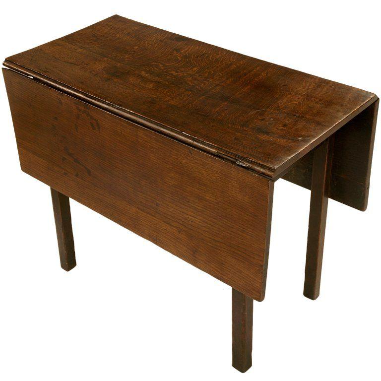Rustic and Primitive Antique. English Oak GateLeg Table