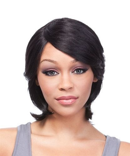 COLOR SHOWN  1B Remy Human hair Wig that gives you long lasting wear. Hair  can be shampooed and thermal styled or wet set. ea263c59b9