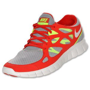 nike free run 2 grey and red