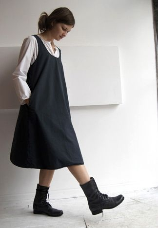 Apron/Pinafore Dress - front for @Katie Hrubec Schmeltzer Schmeltzer Schmeltzer Johnson
