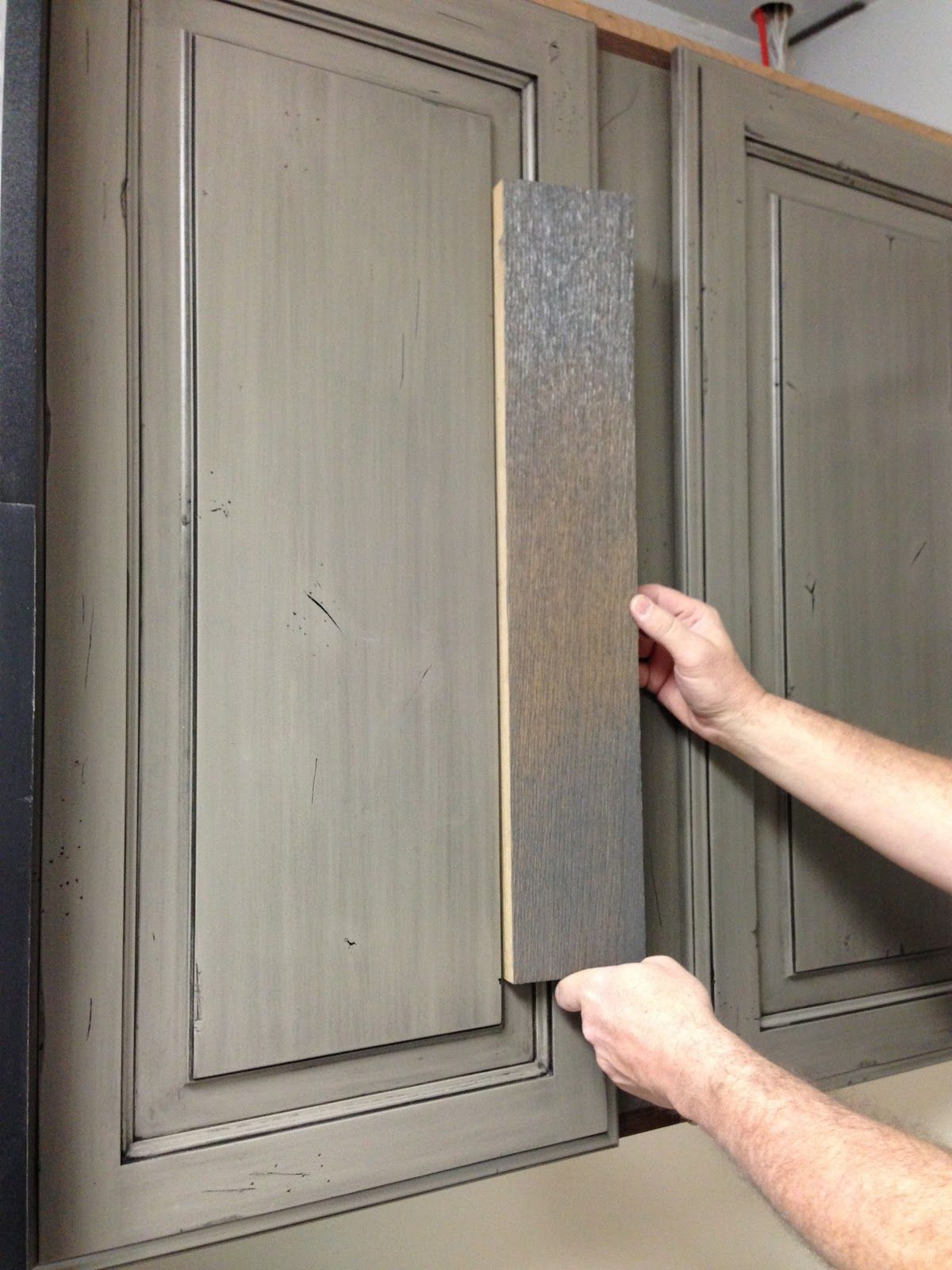 Attractive Wire Brushed Gray Oak Cabinets Fascinating Design Blog Mydesigndump Painting