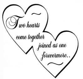2 Hearts Become One Heart Template Two Hearts Heart Wedding