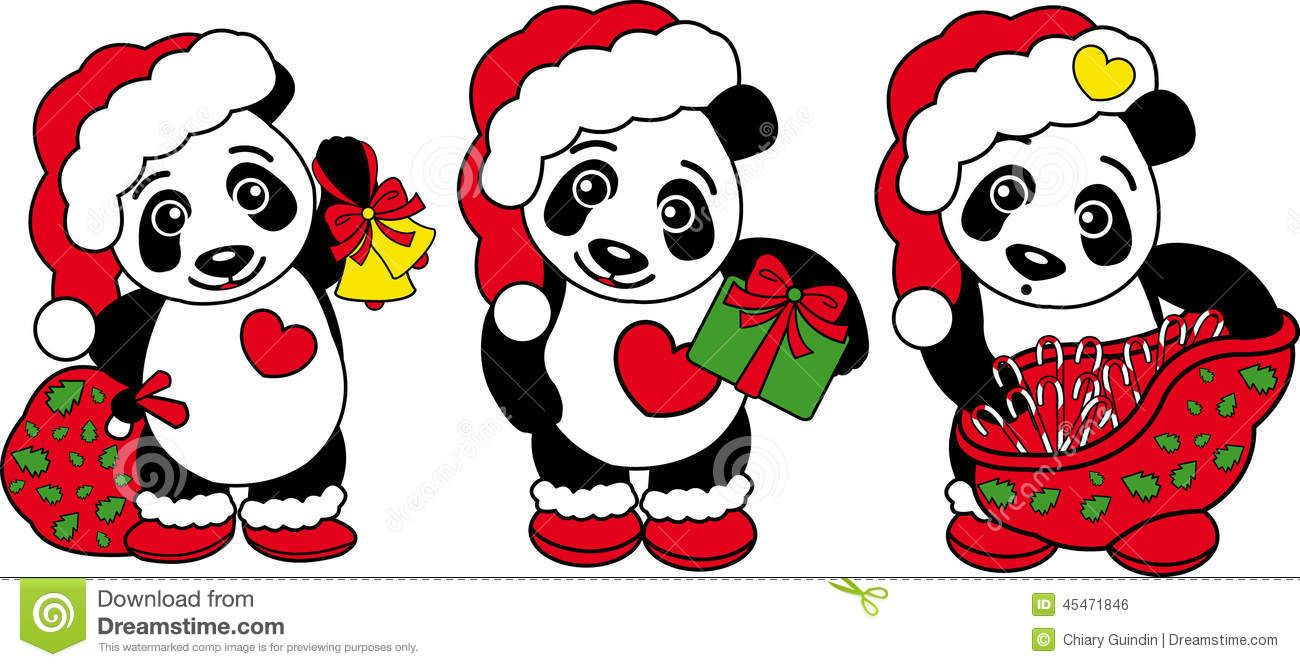 three-christmas-panda-bear-vector-drawing-all-purpose-funny-one-45471846.jpg (1300×667)