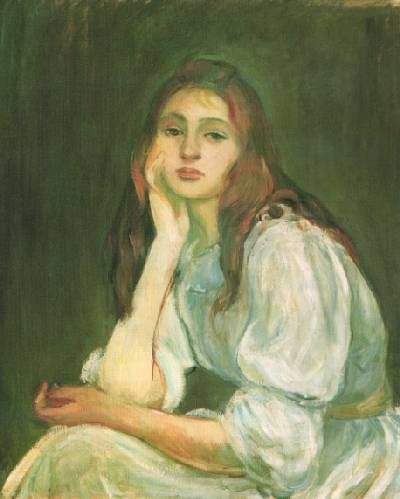 """Berthe Morisot   Berthe Morisot """"Julie Daydreaming"""""""