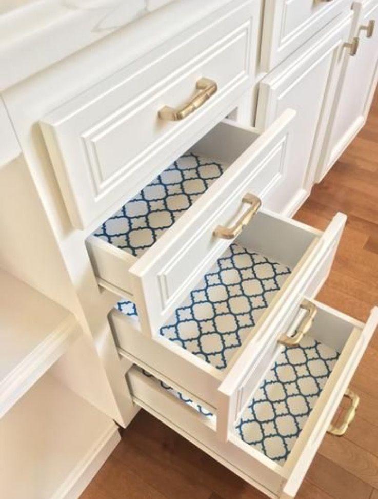 Pin by Kara Duncan on Home Sweet Home | Kitchen shelf liner ...