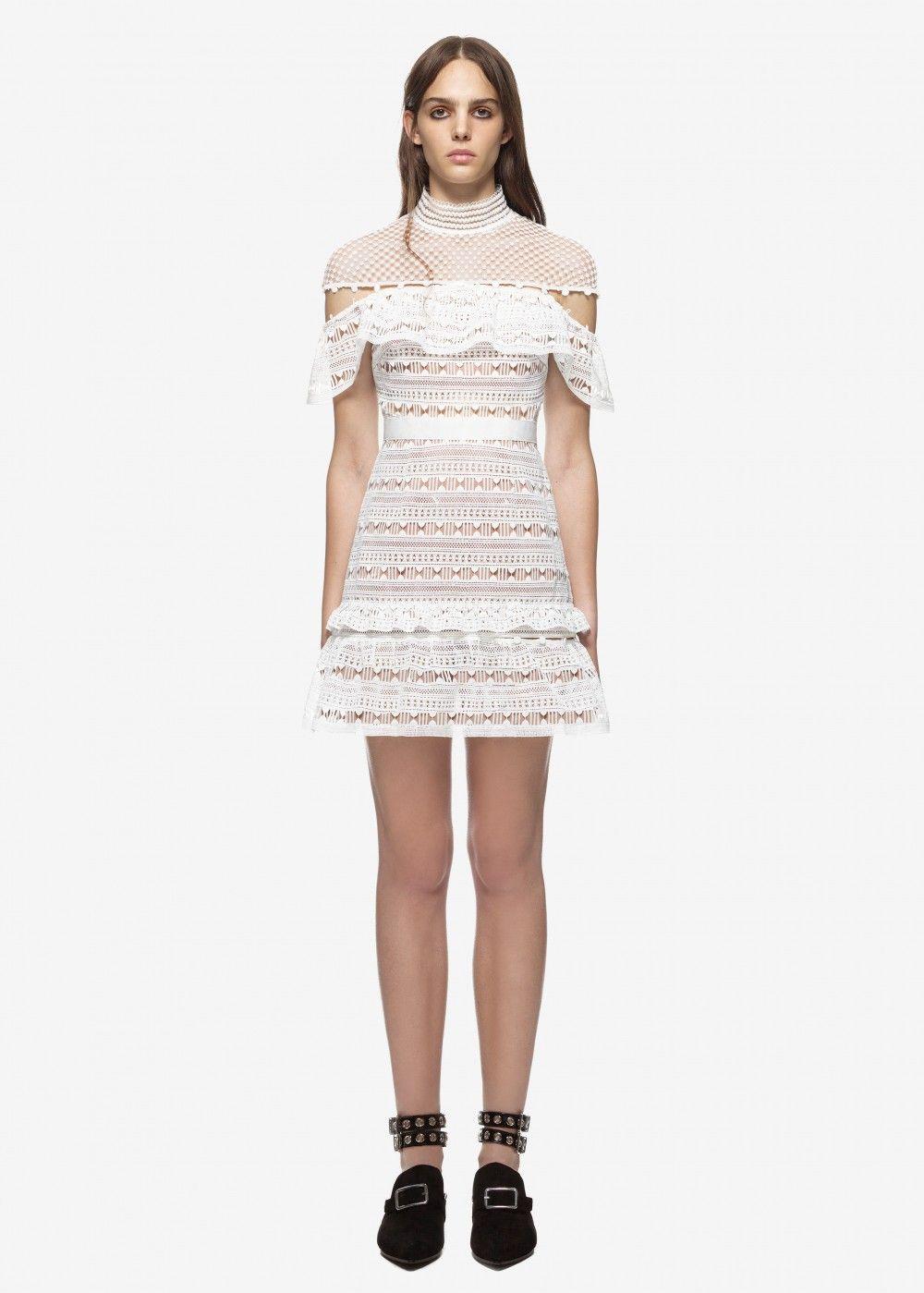 20caff29520 self portrait yoke frill mini dress white  beauty  women  womenfashion   blackfriday  blackfriday2017  gifts  dress  thanksgiving