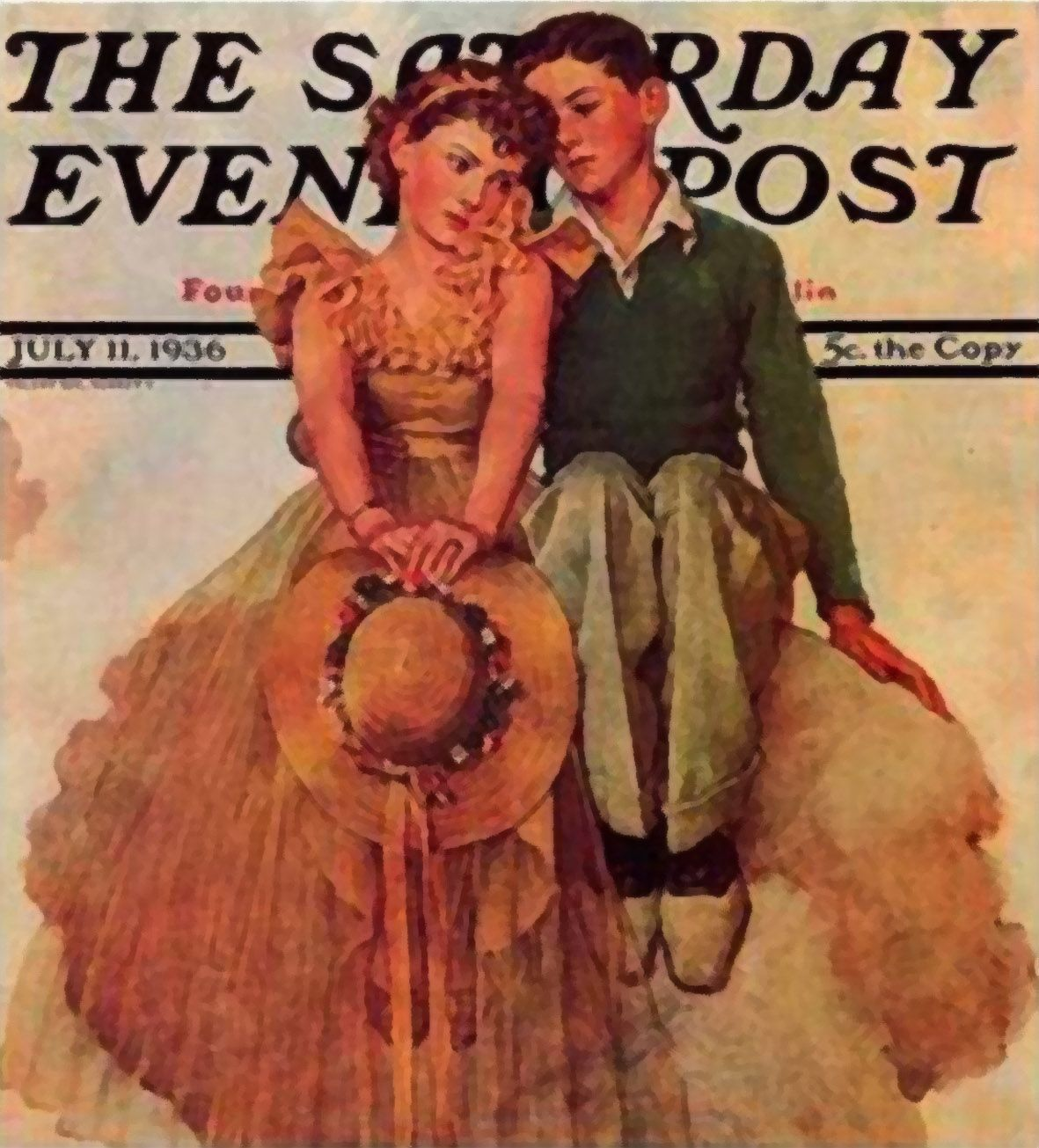 """ArtbyJean - Vintage Clip Art: Three different vintage cover prints from """"The Saturday Evening Post"""""""