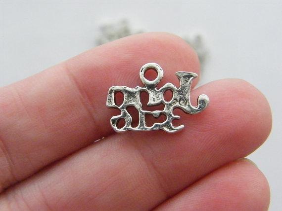 BULK 50 John 3.16 charms tibetan silver R11