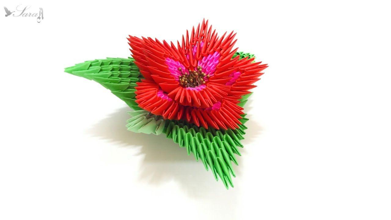 How To Make 3d Origami Flower 2 3d Origami Pinterest 3d