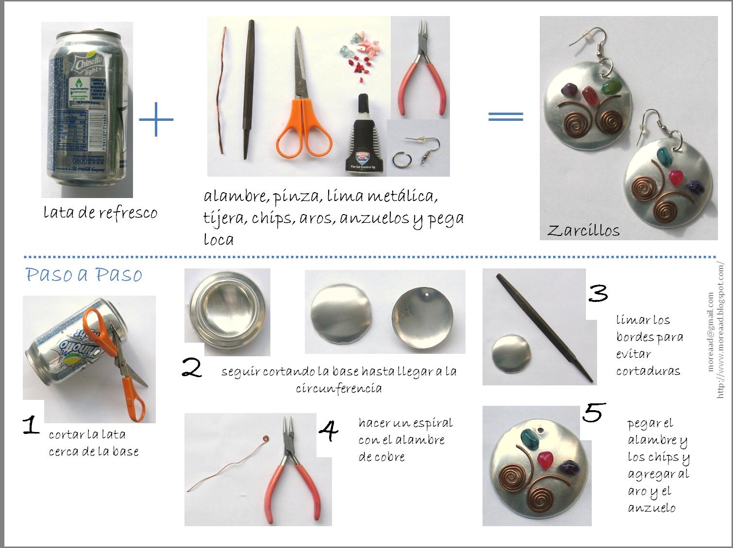 More reciclaje 101 bisuter a con latas de refresco - Reciclar latas de refresco ...