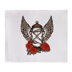 Hourglass with Wings Throw Blanket by Artubble - CafePress