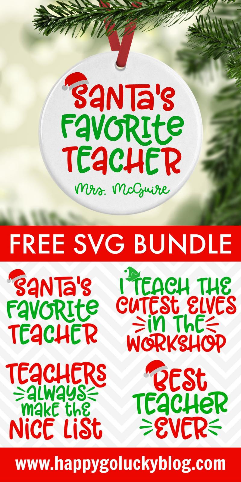 Christmas Teacher SVG Bundle