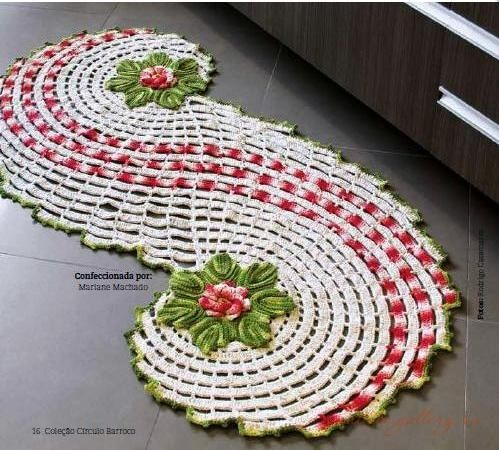 Crochet Rug Patterns With Fabric How To A Out Of Yarn Oval Pattern Tutorial Floor Doil