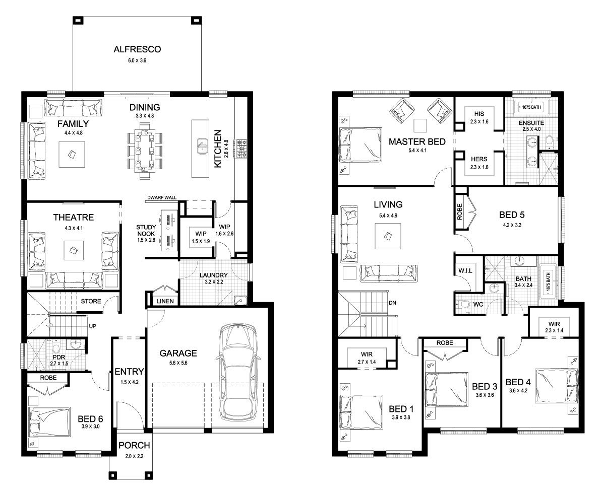 But Make Bed 5 Something Else Aria 42 Double Level Floorplan By Kurmond Homes New Hom House Plans 2 Storey Double Storey House Plans Dream House Plans