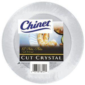 Chinet Cut Crystal Plates | Wedding Stuff | Pinterest | Count ...