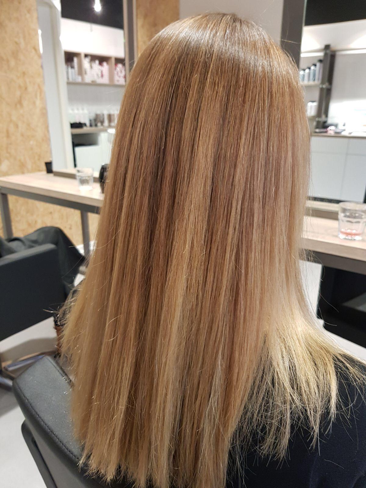 Balayage haircolor blondebalayage blond hairstyle style haar