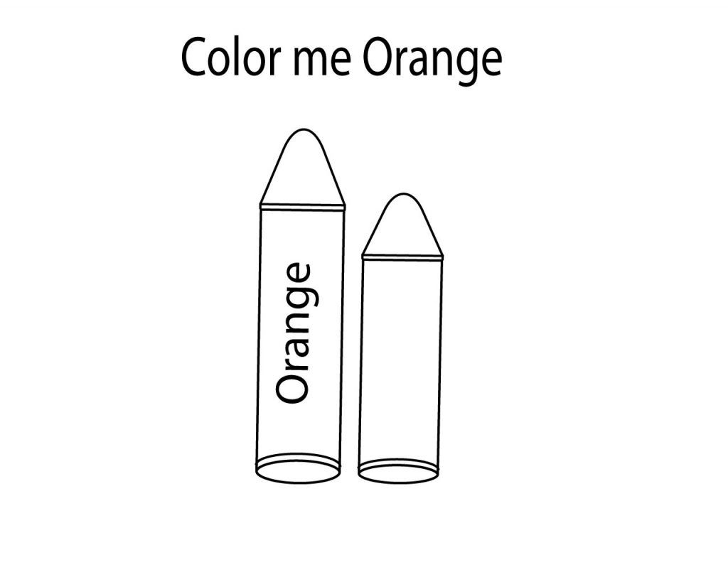 Orange Crayon Coloring Pages Coloring Pages Color Free Coloring Pages