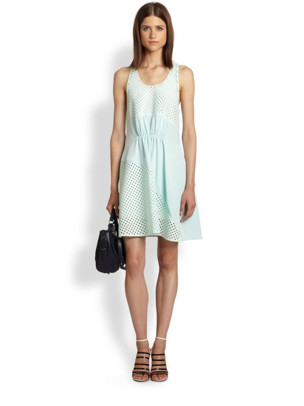 3.1 Phillip Lim  Perforated Paneled Dress