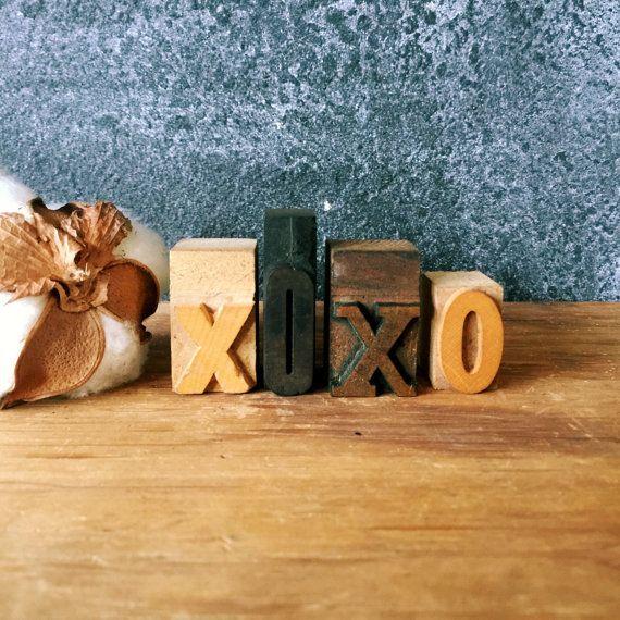 XOXO Letterpress Letters / XOXO Letter Decor / Type Print