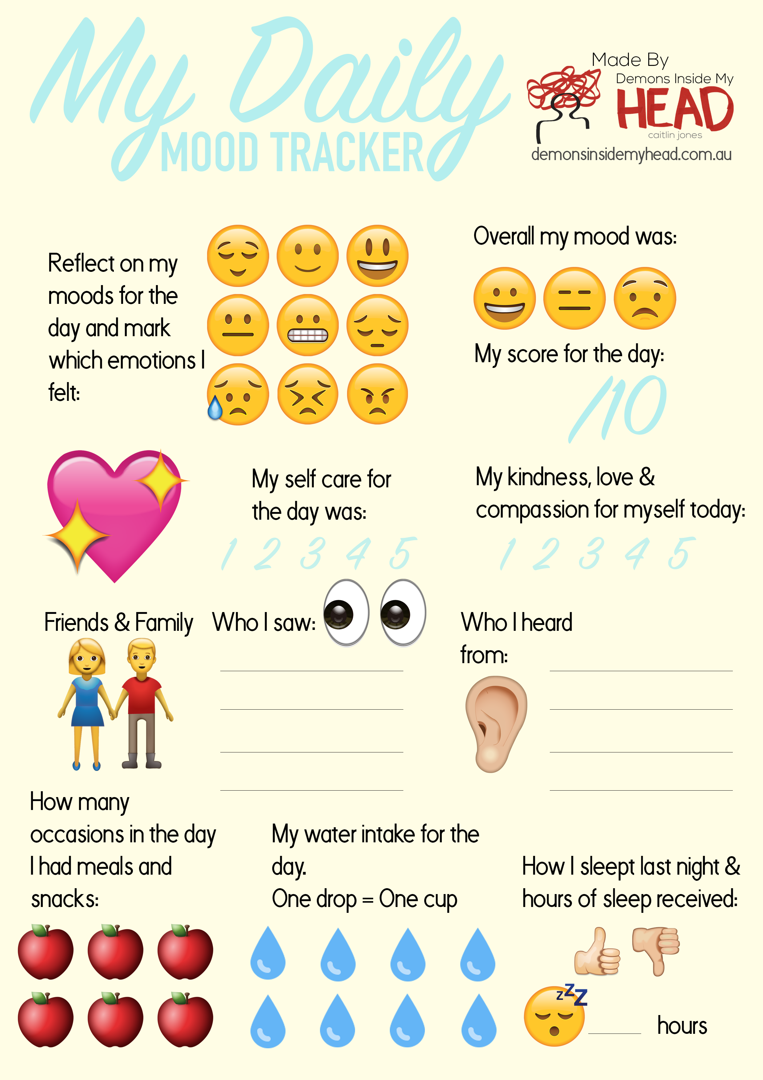 Keep Track Of Your Emotional State With This Daily Mood