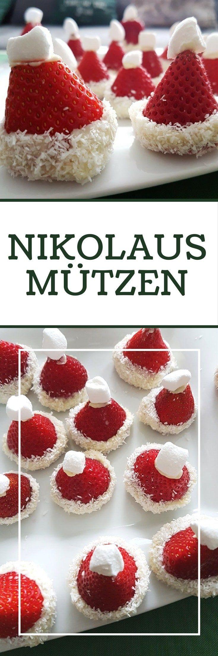 Erdbeer Nikolausmütze - Originelles Dessert zu Weihnachten