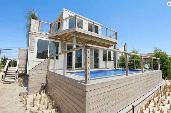 maison tage avec balcon vue ext rieure avec piscine architecture pinterest tages. Black Bedroom Furniture Sets. Home Design Ideas