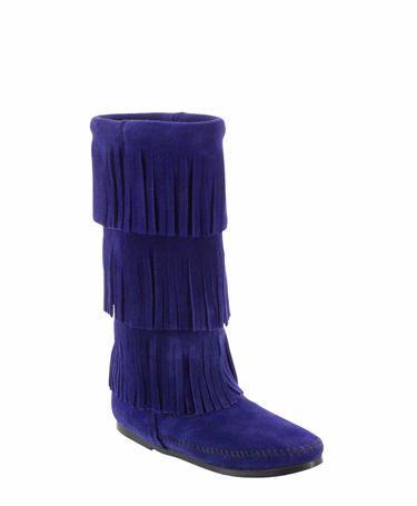 Calf Hi 3-Layer Fringe Boot in Limited Edition Blue Violet!