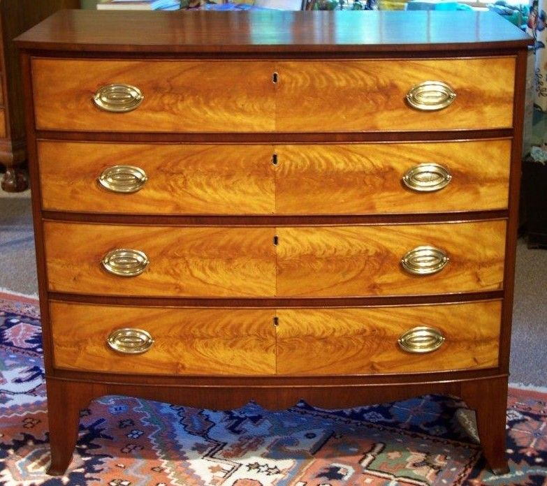 0fdc9a8c7576 New Hampshire Federal Hepplewhite Mahogany Bowfront Chest of Drawers ....Beautiful!