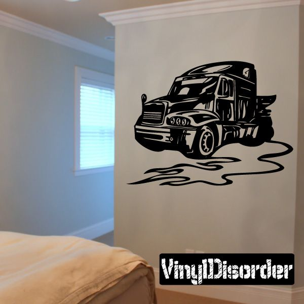 Semi Truck Wall Decal - Vinyl Decal - Car Decal - DC 070