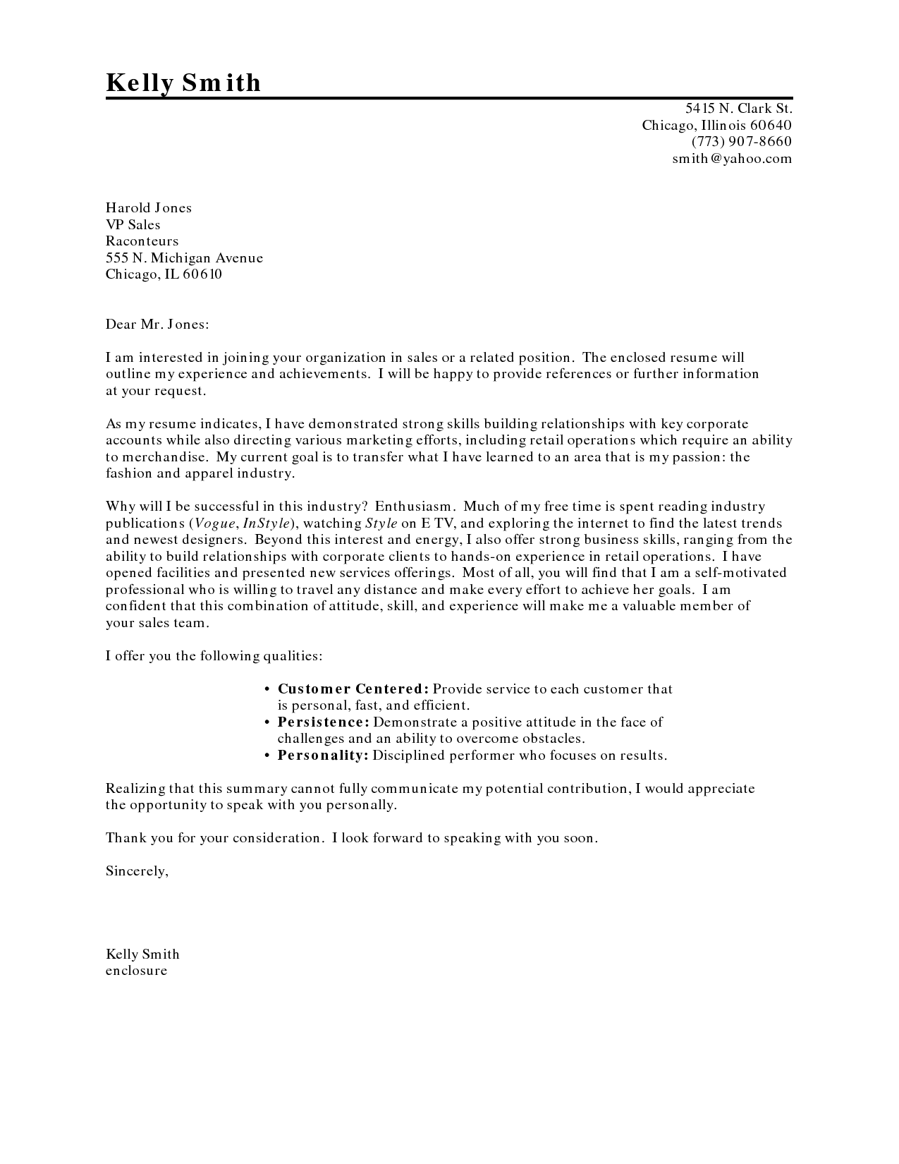 Career Change Cover LetterSimple Cover Letter Application Letter Sample  Cover Letter For Application
