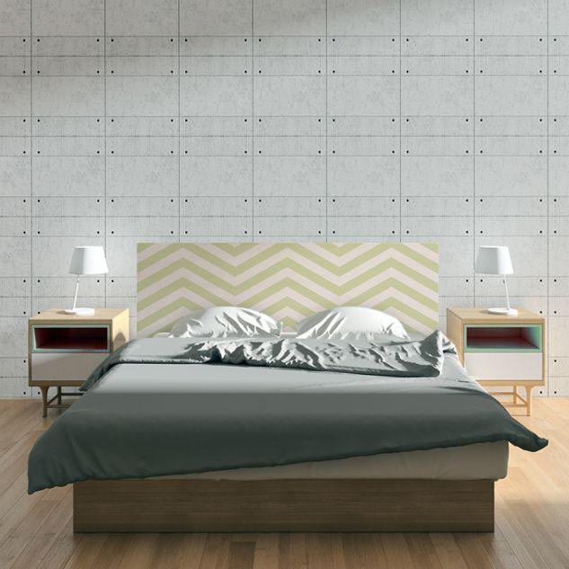 Cabecero de cama con un diseño único. #cabecerosdecama #decoración #dormitorio #dulcessueños