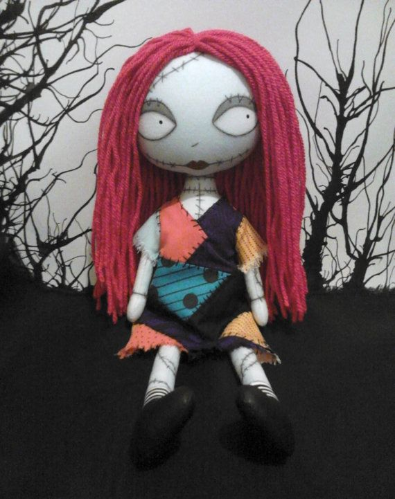 Nightmare before Christmas Sally Gothic Art Rag Doll - RESERVED for ...