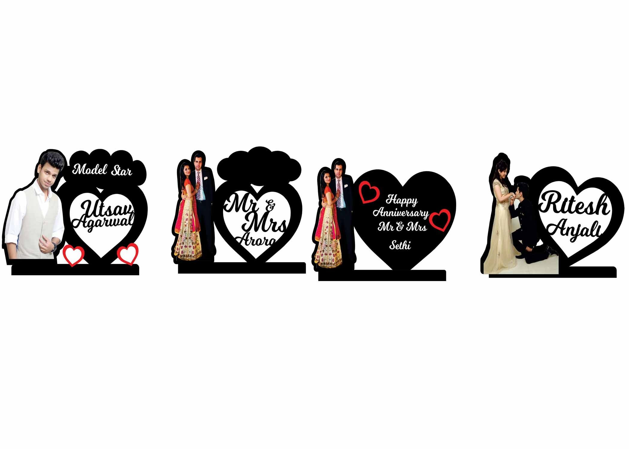 Personalized Heart Shape Couple Collage Frame | Valentines Day Gifts ...