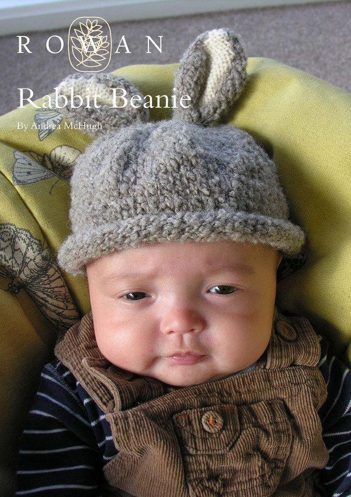 Rabbit Beanie Hat in Rowan British Sheep Breeds Fine ...