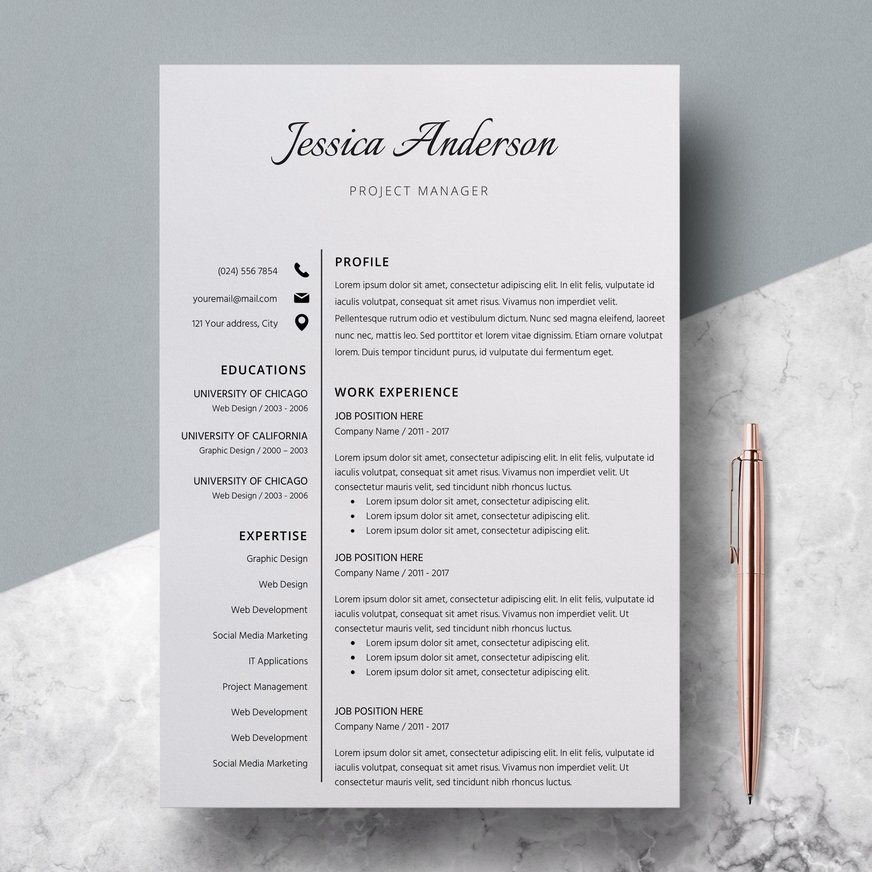 Modern Resume Template, Resume Bundle, Elegant Resume Instant ...