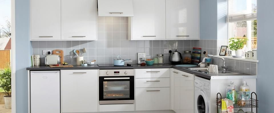 Exceptional Greenwich Gloss White Kitchens Feature A Gloss White Slab Door.