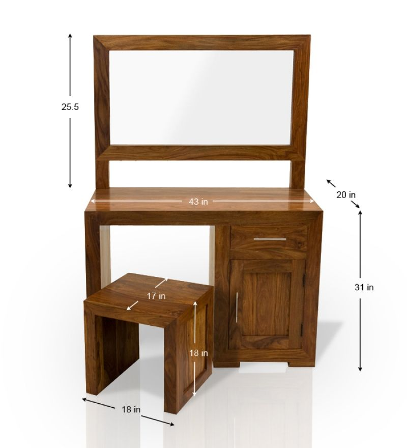 Dressing table height google search anthropometrics in - Standard height of bathroom mirror ...