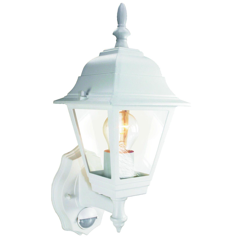 Smartwares Aussenleuchte Laterne Mit Bewegungsmelder Weiss Es94w Lampe Ip44 Alu In Heimwerker Lampen Amp Licht Auss Aussenleuchten Lampe Sicherheitsbeleuchtung